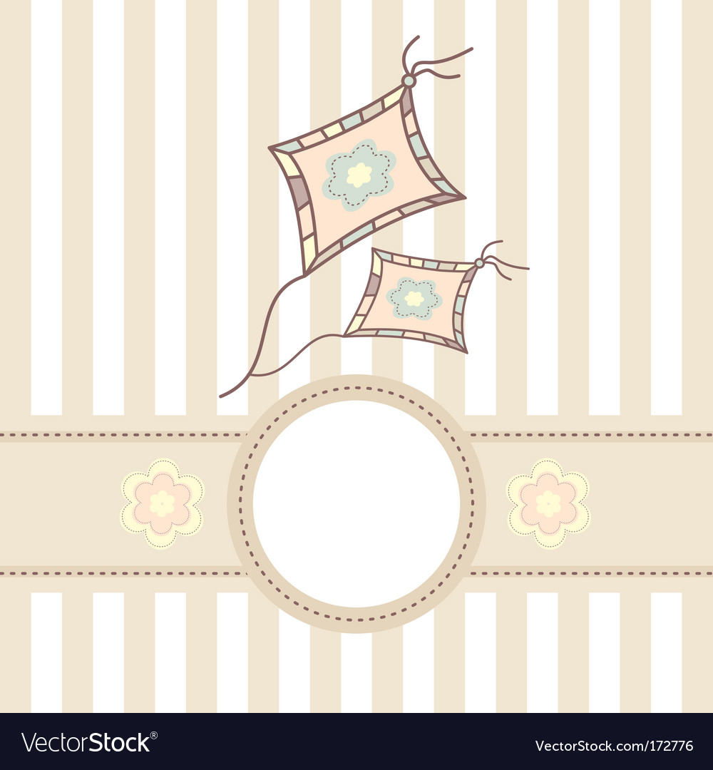 Baby card with kite vector image