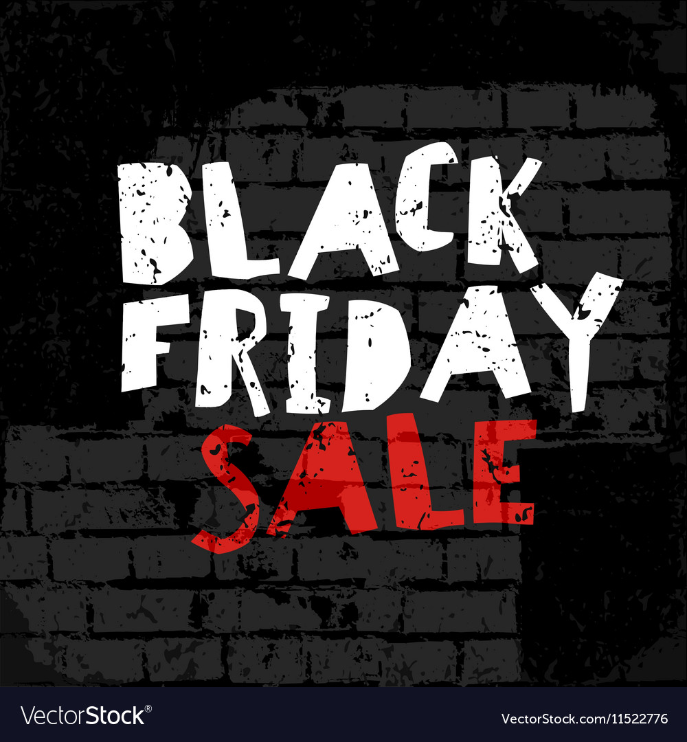 Black Friday poster On brick wall texture