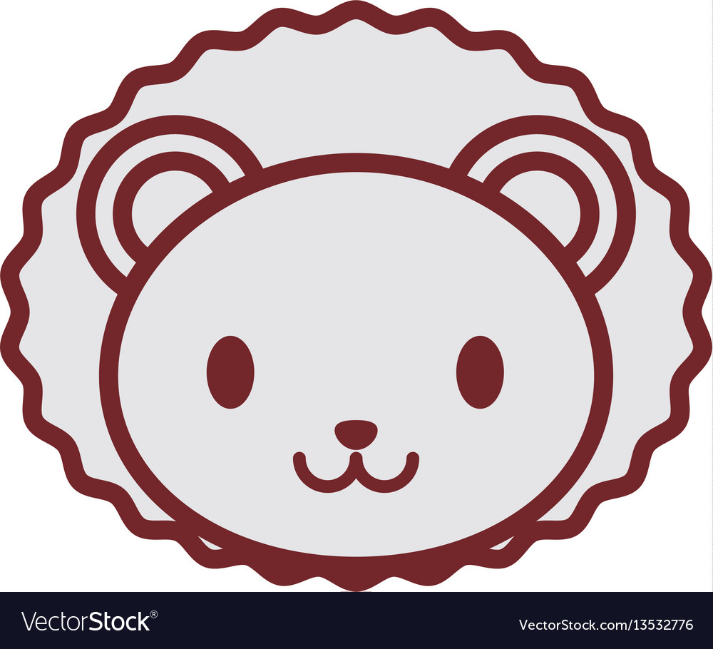 Cute lion face image vector image
