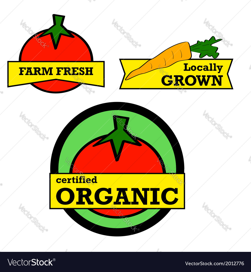 Fresh Produce vector image