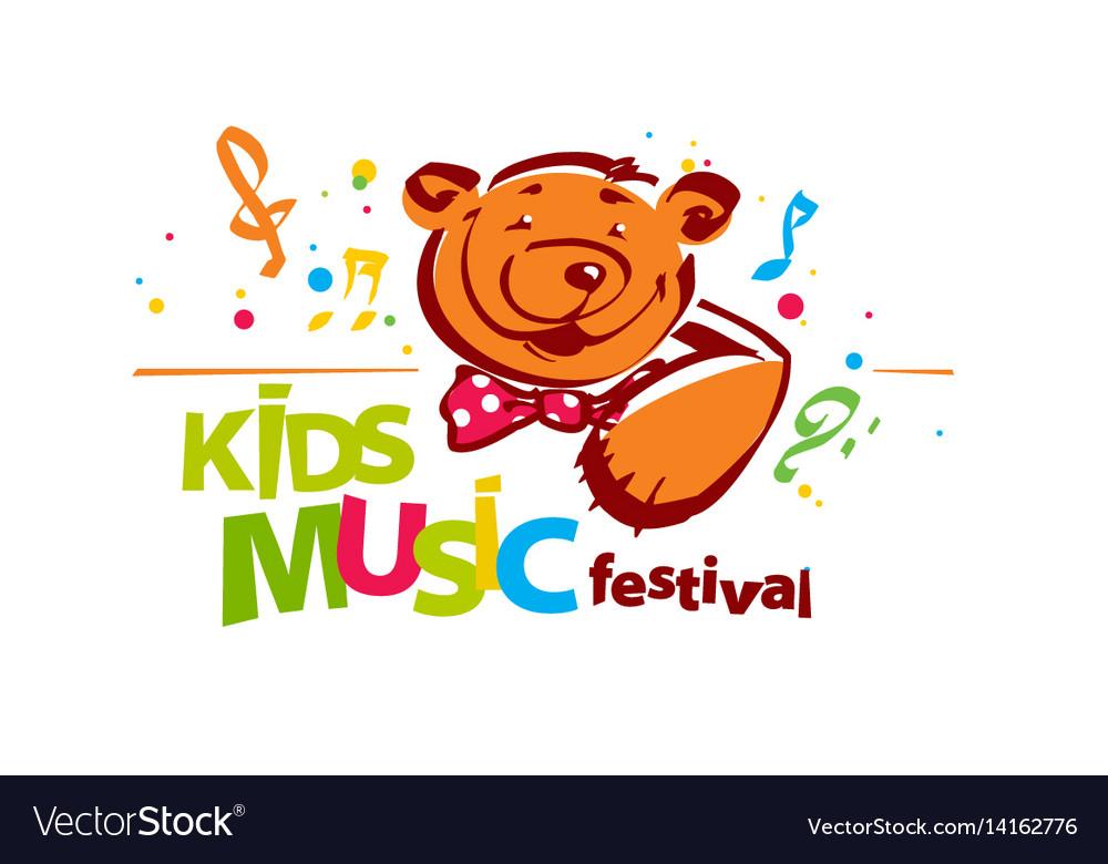 Kids music festival logo