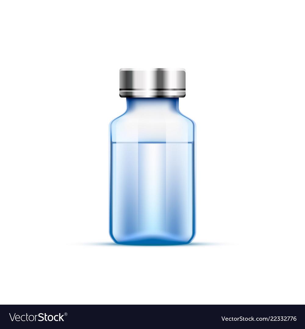 Medical ampoule blue