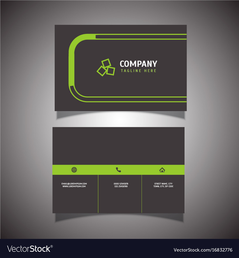 Modern business card design Royalty Free Vector Image