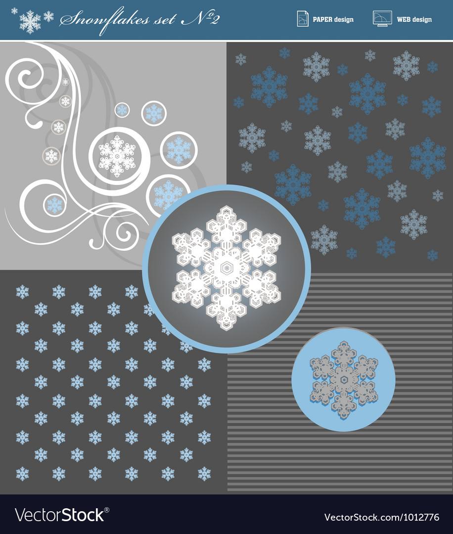 Snowflakes set 2