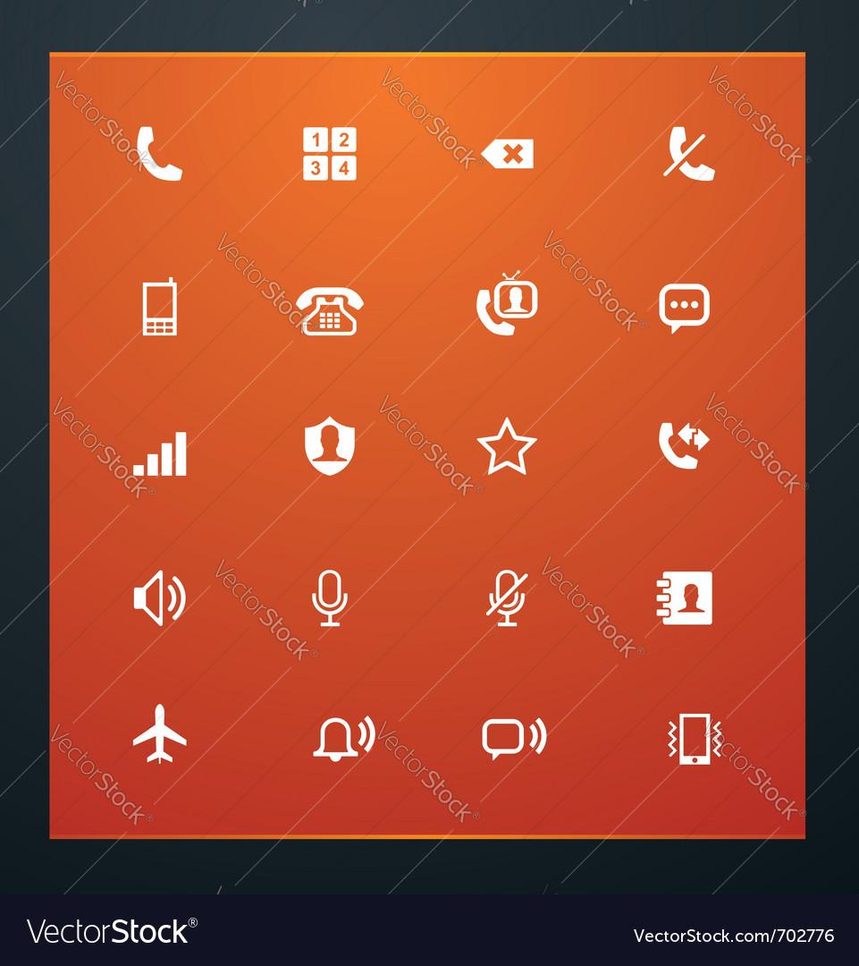 Universal glyphs 12 phone symbols 1 vector image