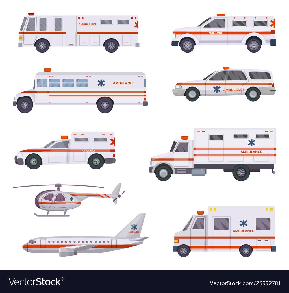 Ambulance cars health rescue service vehicle van