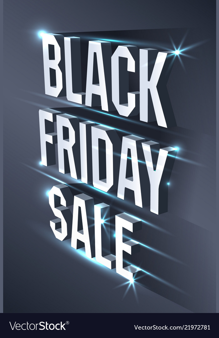 Dark banner for black friday sale metallic