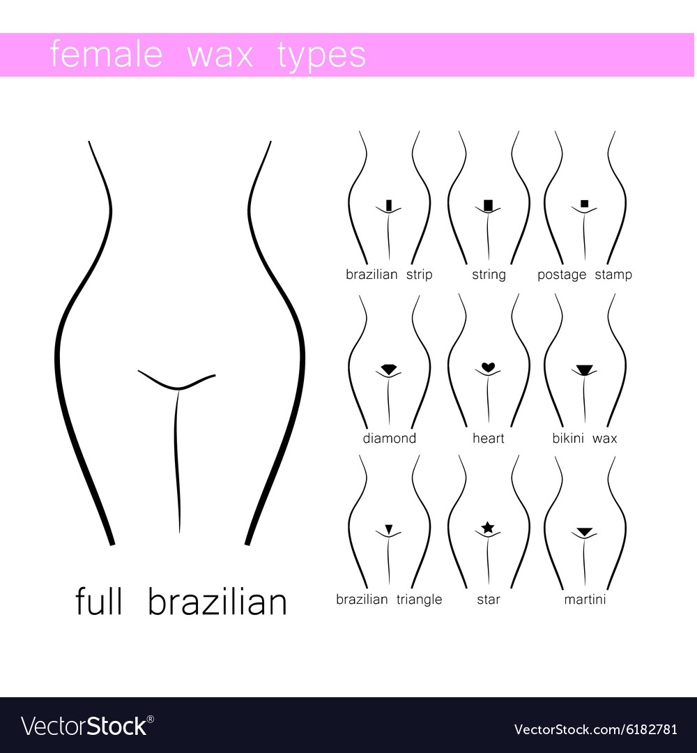 Different bikini wax styles — 9