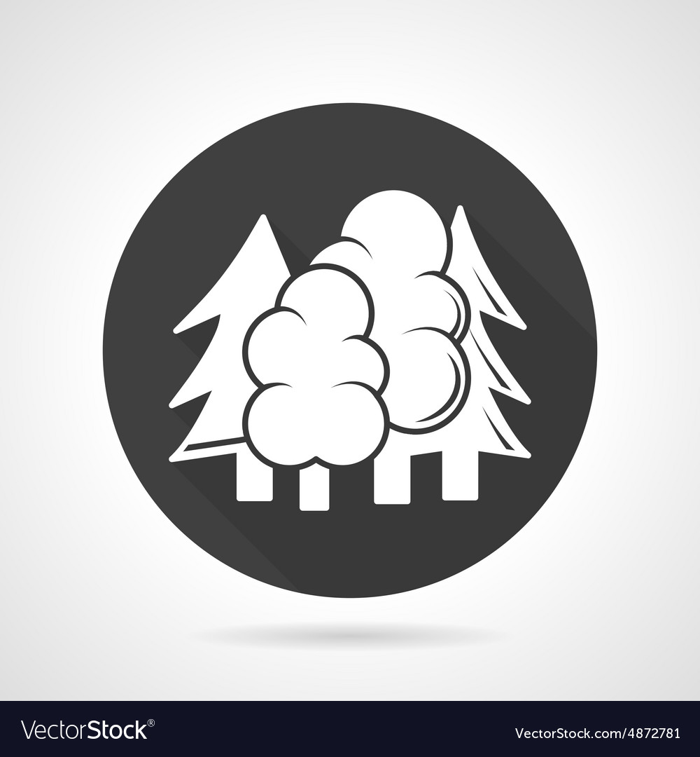 Forest black round icon vector image
