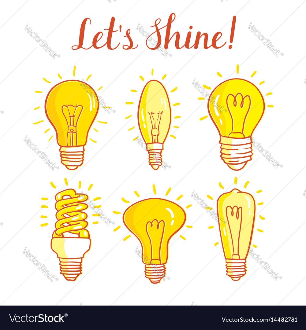 Light bulb and led lamp set of lightbulbs
