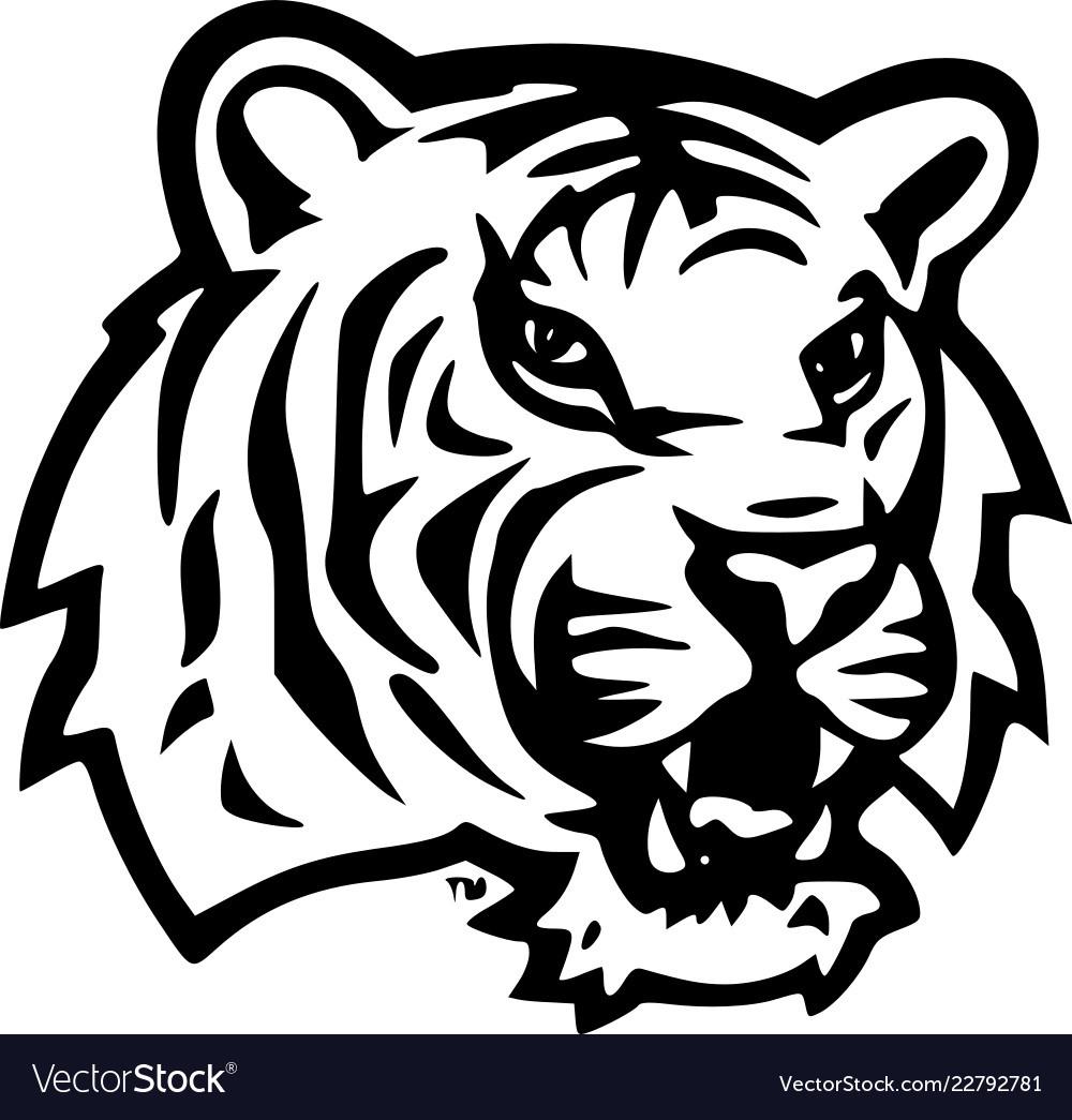 lsu tiger head royalty free vector image - vectorstock  vectorstock