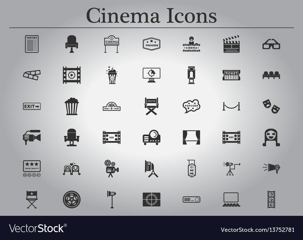 Movie cinema icons