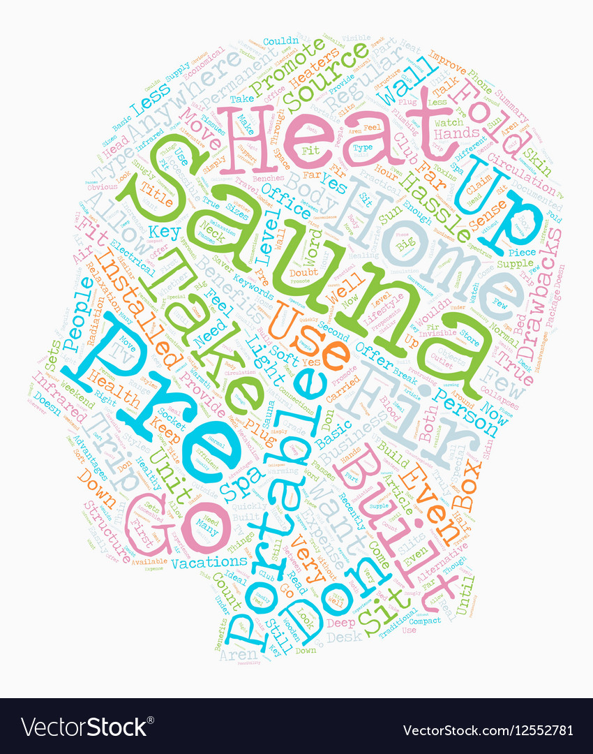 Take Your Sauna With You text background wordcloud vector image