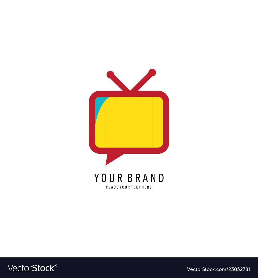 Television icon logo