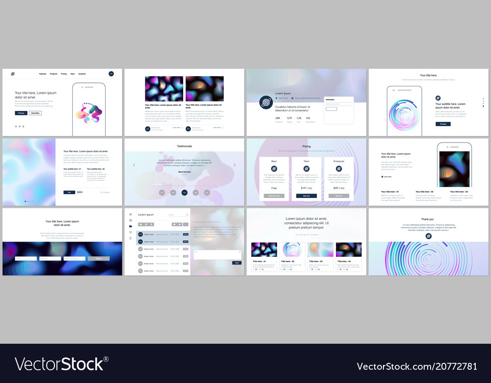Templates with geometric patterns gradient