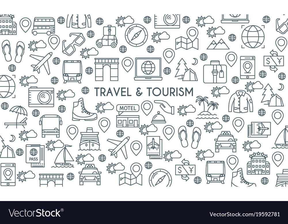 Thin line design travel banner