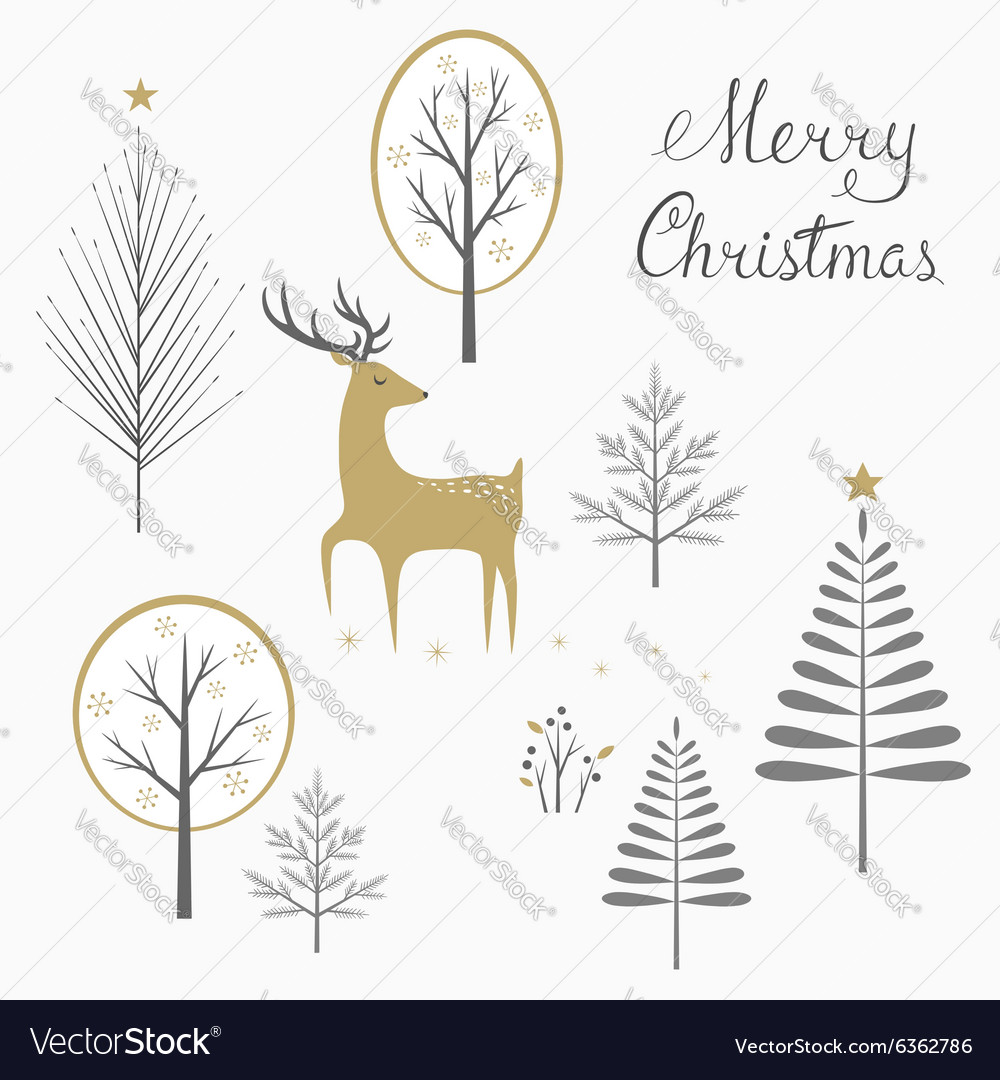Christmas deer card