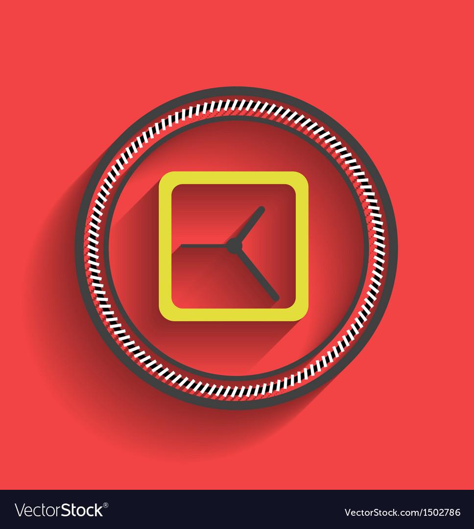 Clock icon flat modern design