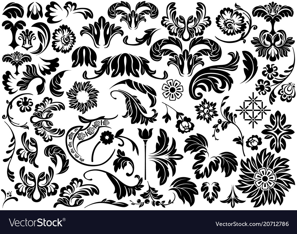 Damask floral reliefs