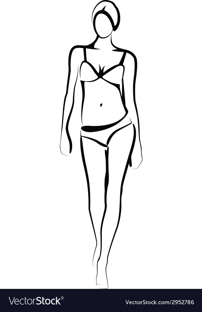 Female model vector image