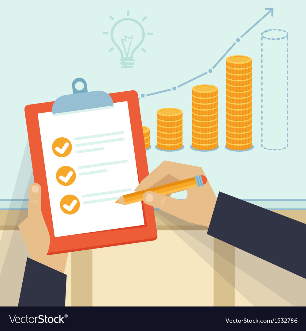 Financial business plan - hand holding report and