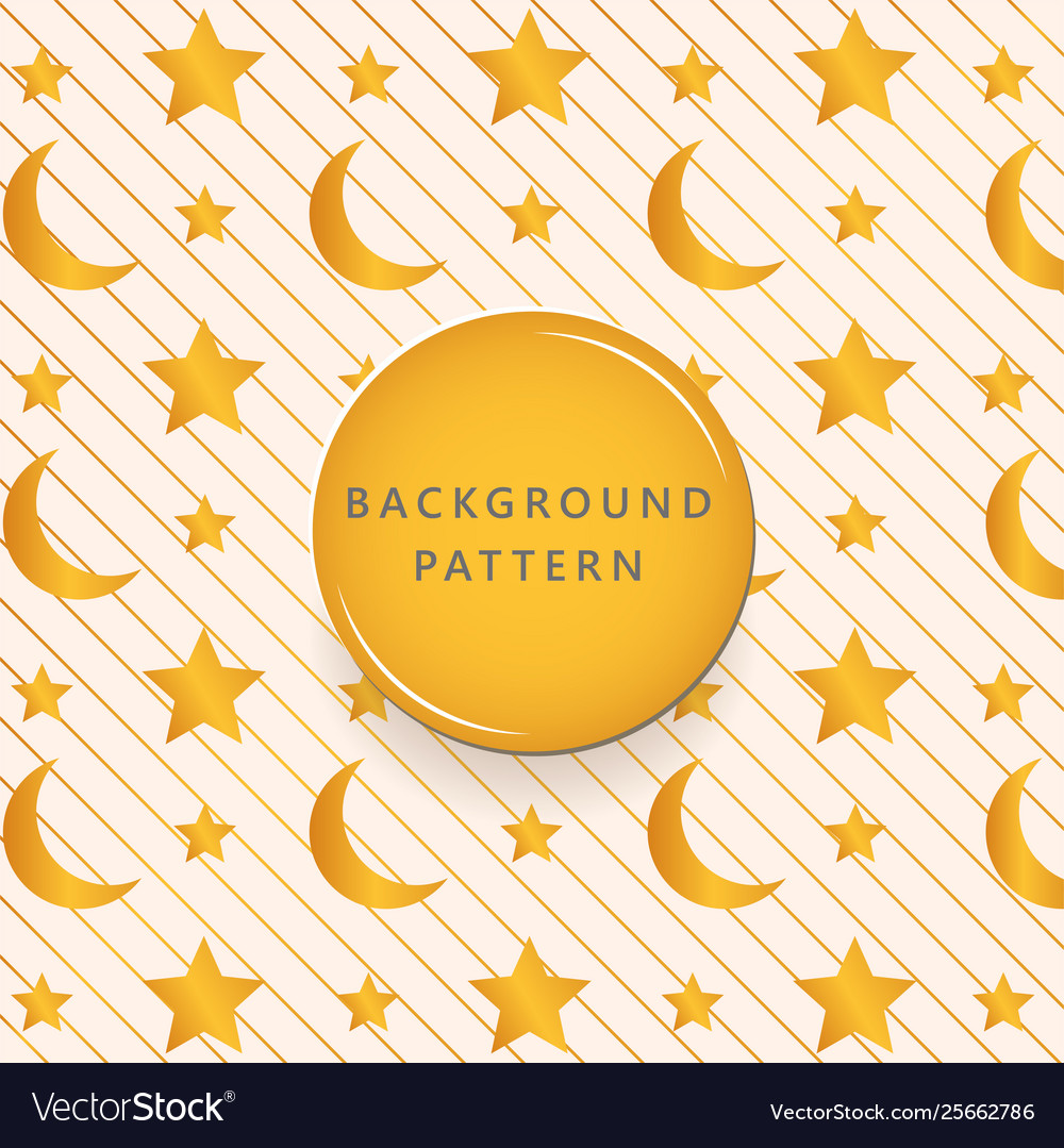 Gold moon and star textures pattern background