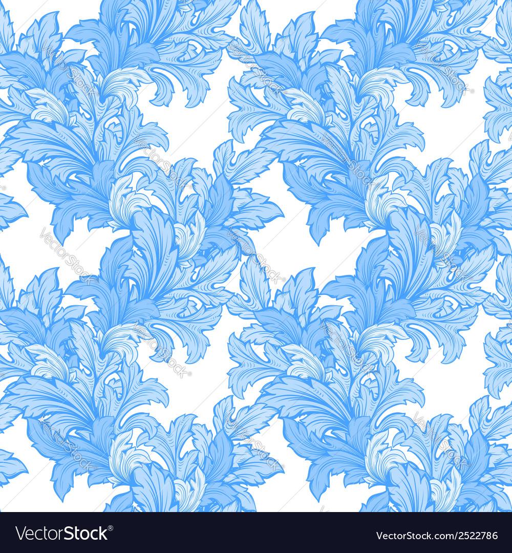 Hand draw leaf seamless pattern