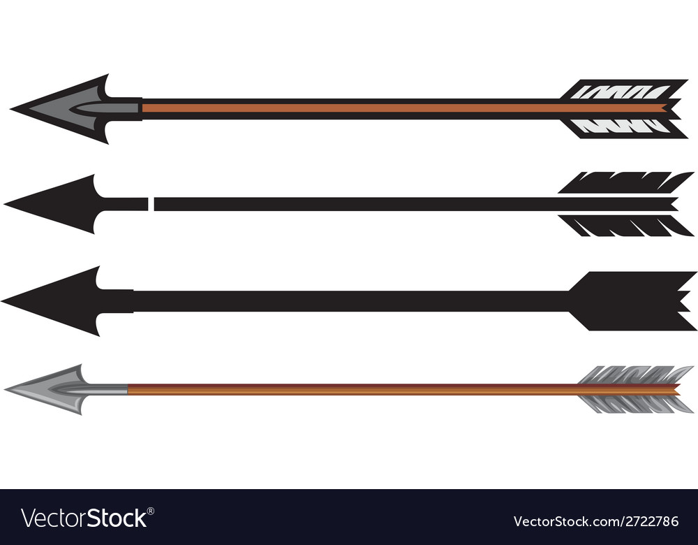 Hunting arrows collection vector image