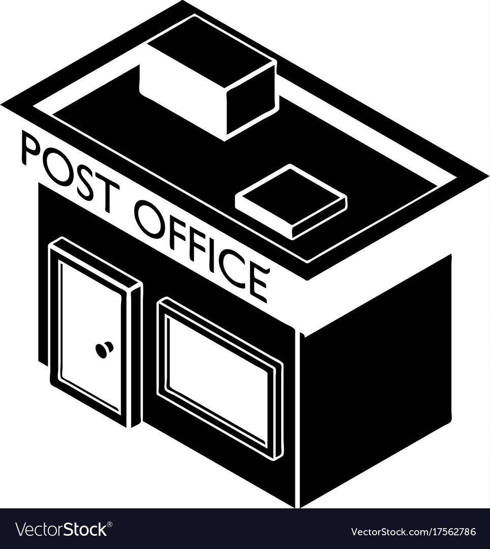 Post Office Icon Simple Style Royalty Free Vector Image