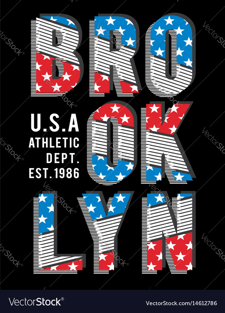 Retro brooklyn typography design