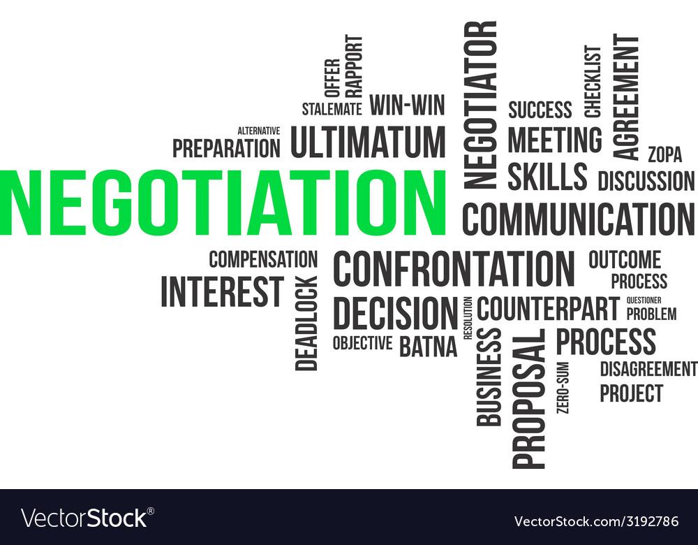 Word cloud negotiation