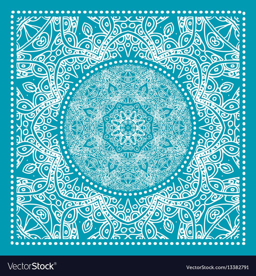 Blue bandana print