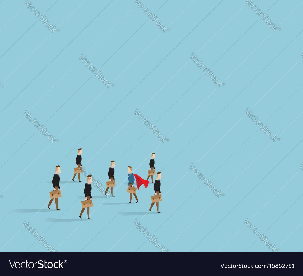 Businessman walk to different way from other vector image