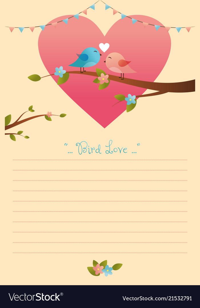 Card of birds in love