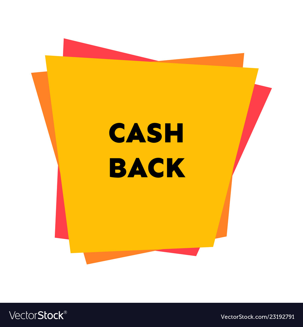 Cash back sticker with abstract geometric forms