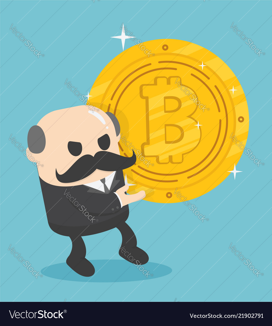 Concept business pile coins pulling currency