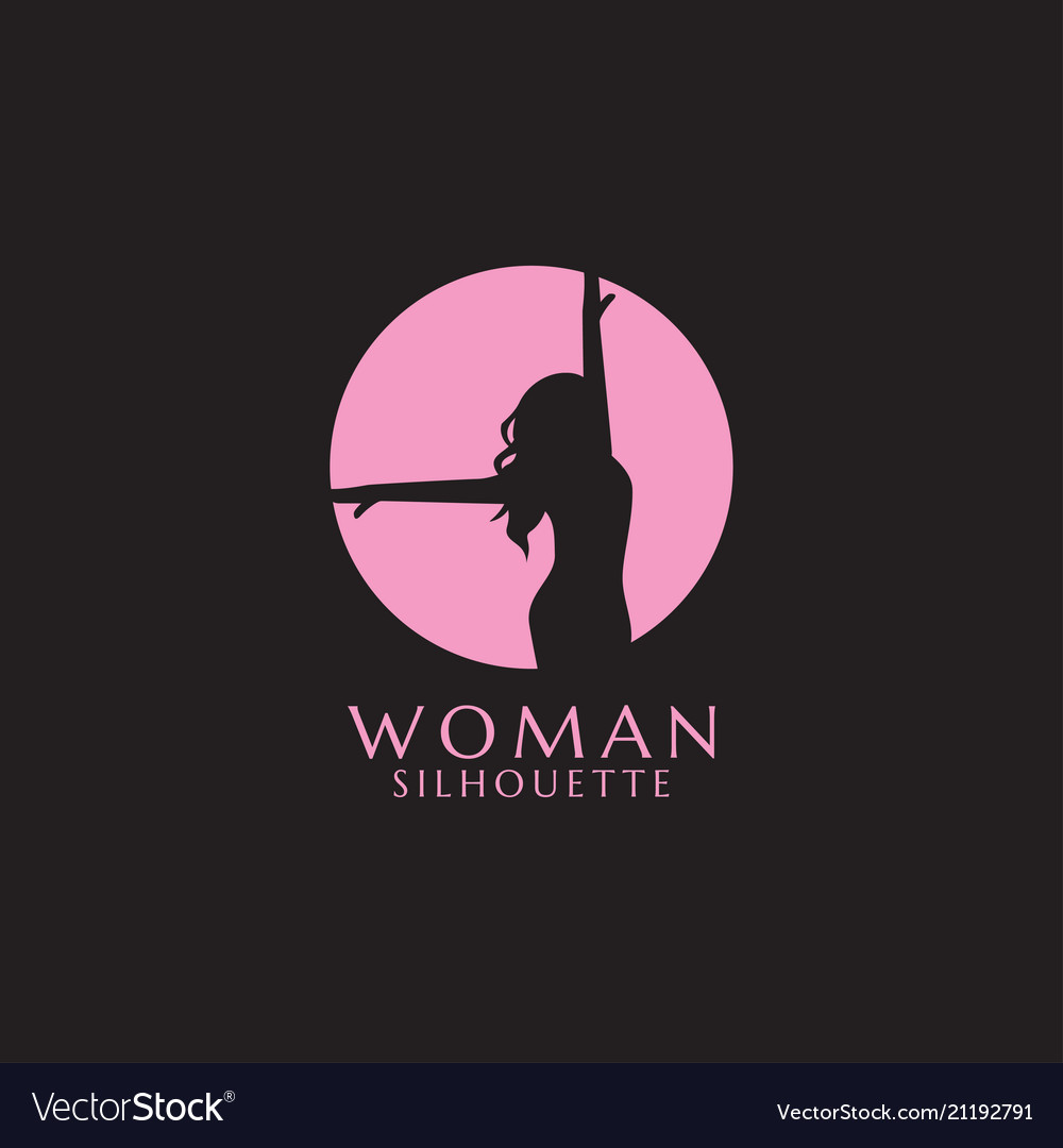 Pink woman silhouette