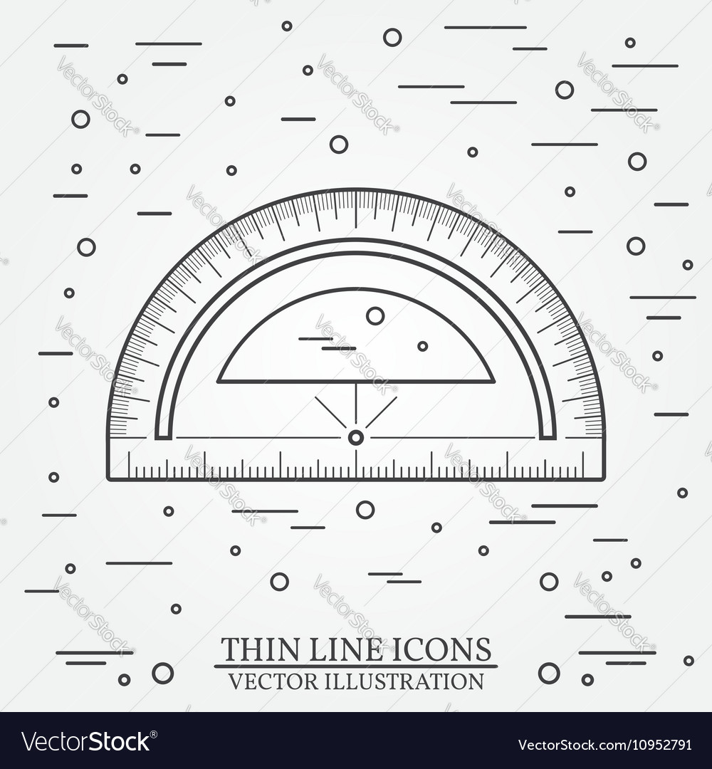 Protractor on white background