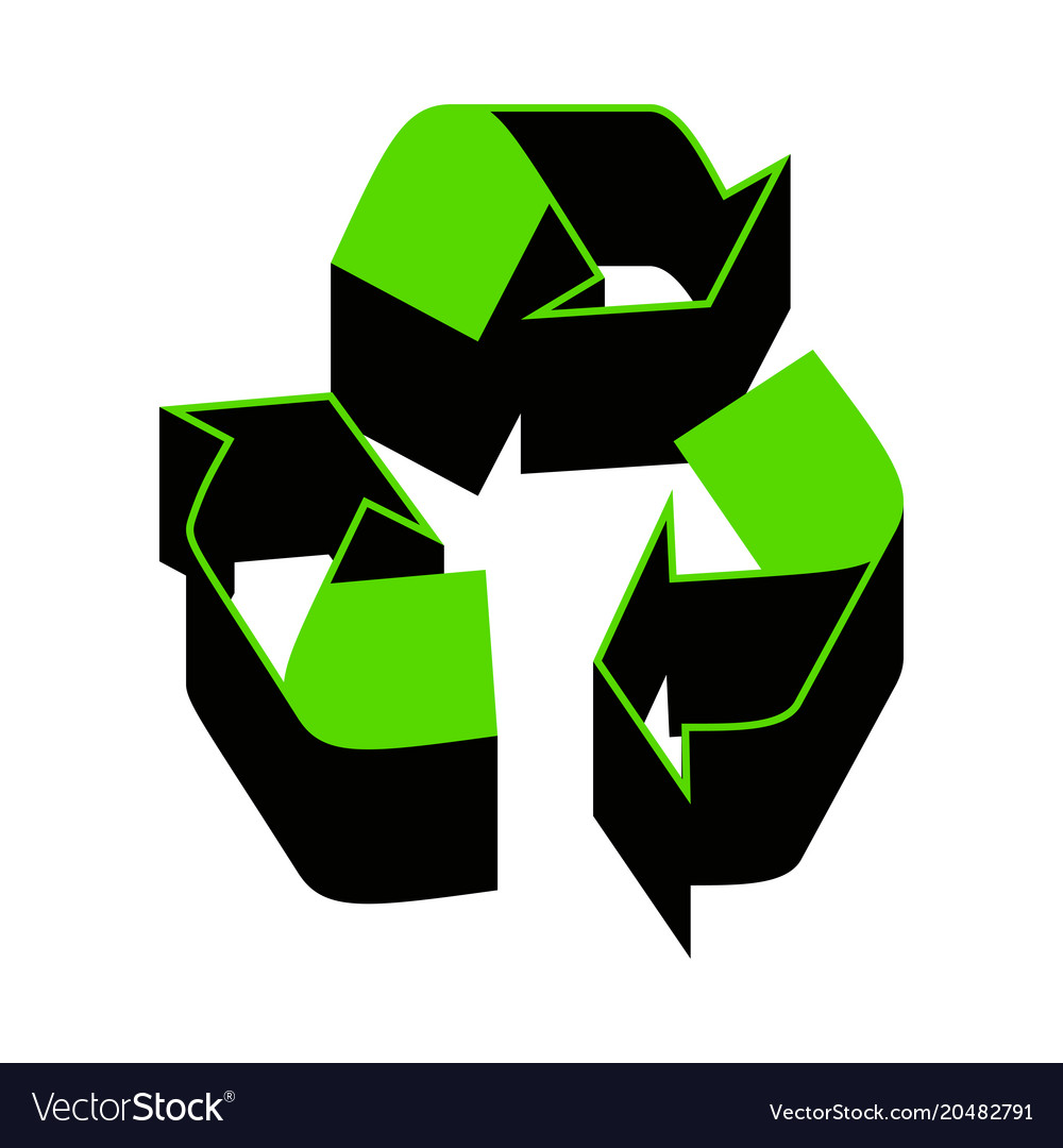 recycle logo concept green 3d icon with royalty free vector rh vectorstock com recycle logo vector free download recycle logo vector free download