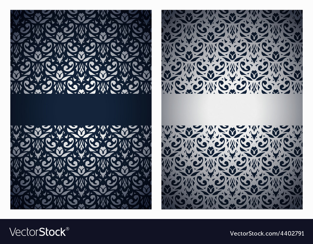 Silver and dark blue greetings
