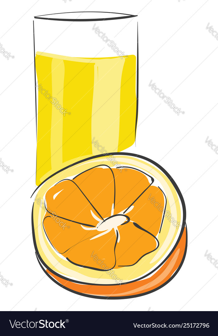 An Orange Juice Or Color Royalty Free Vector Image,What Colour Is Orange And Blue