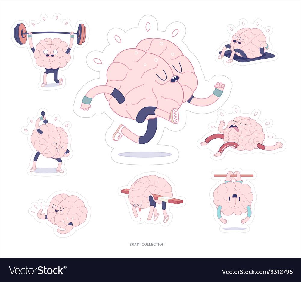 Brain stickers fitness set