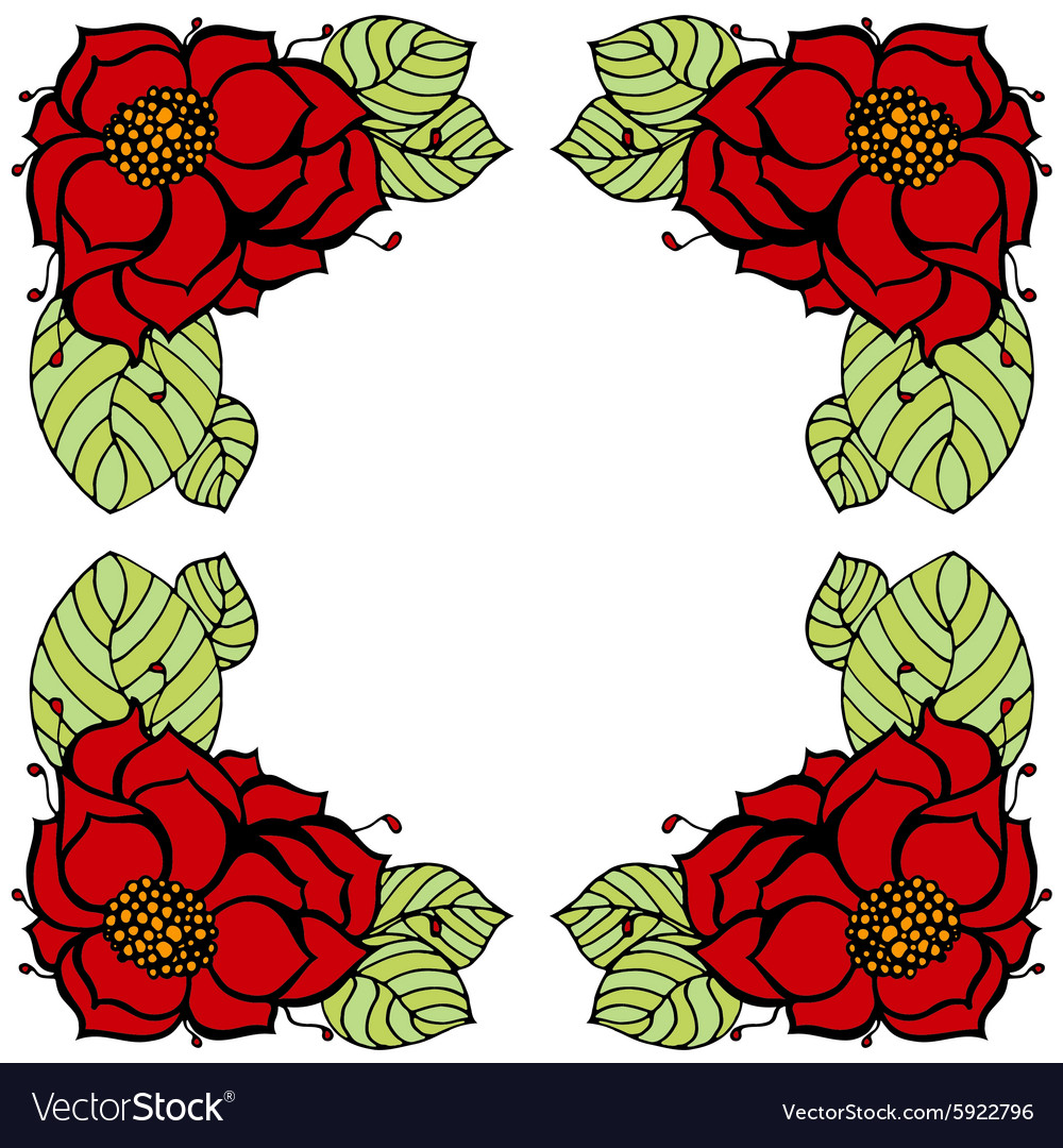 Flower frame vector image