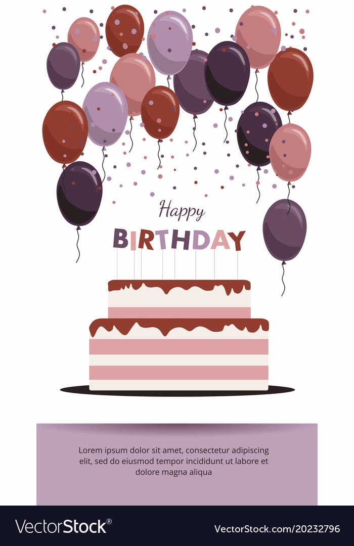 Happy birthday card birthday party elements