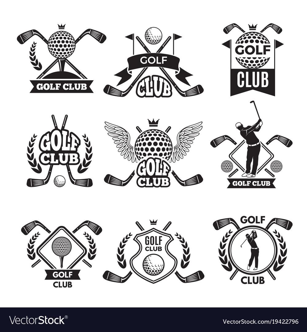 Monochrome labels for golf club