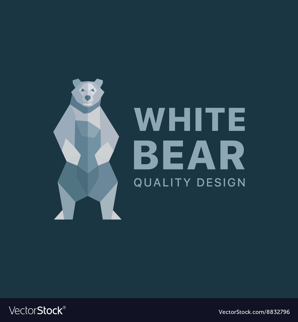 Polar Bear background of flat polygons low poly