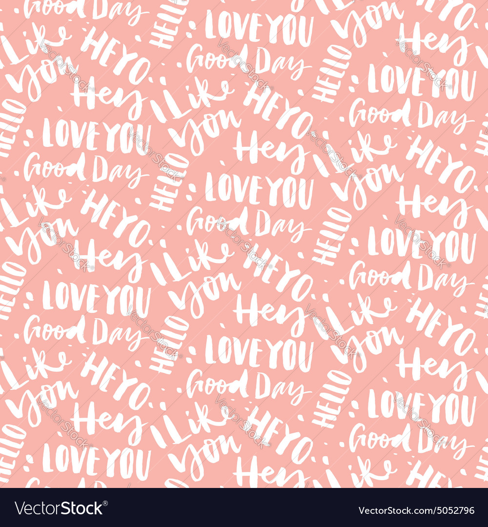 Seamless Pattern With Greetings Royalty Free Vector Image
