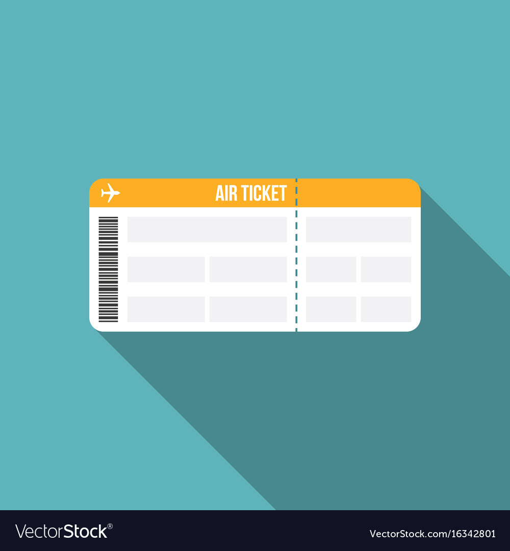 Air ticket or boarding pass icon