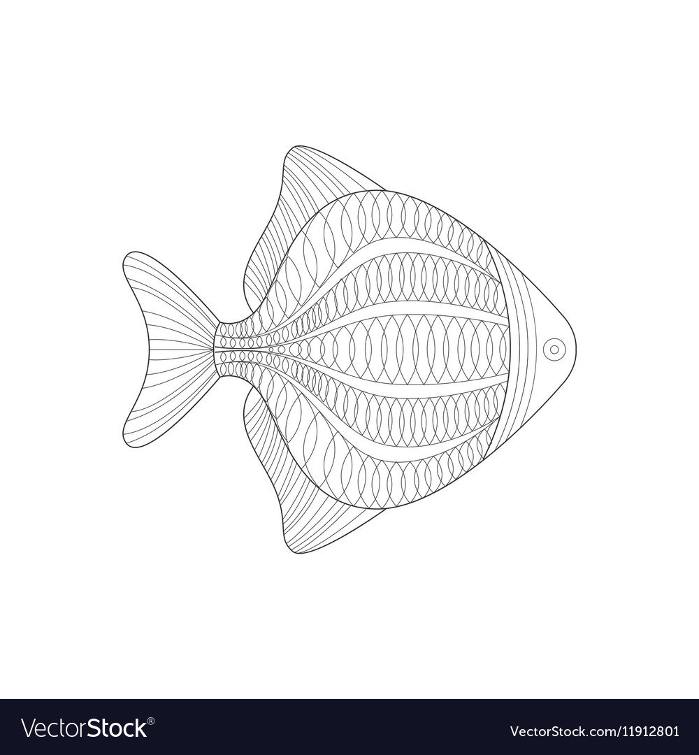 Aquarium Fish Sea Underwater Nature Adult Black Vector Image