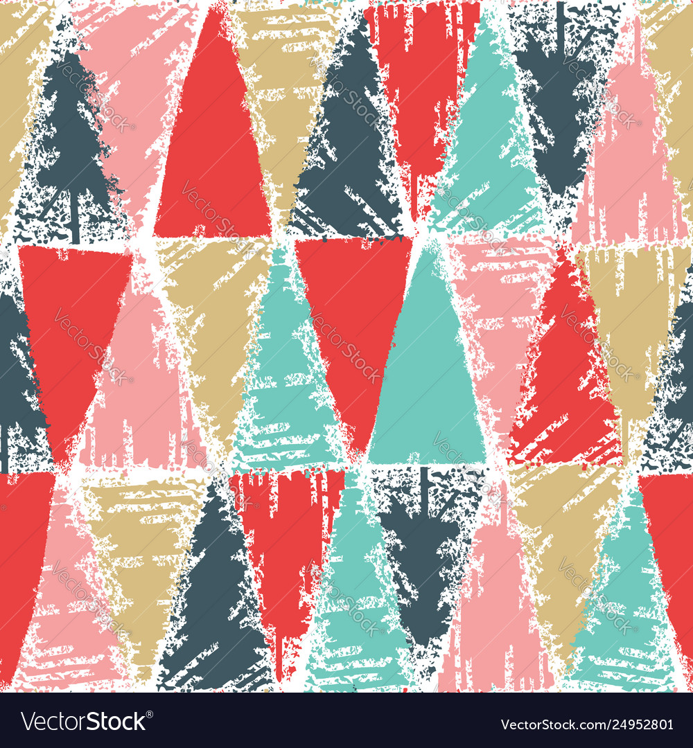 Cold christmas color stamp pattern